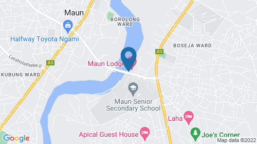 Maun Lodge Map