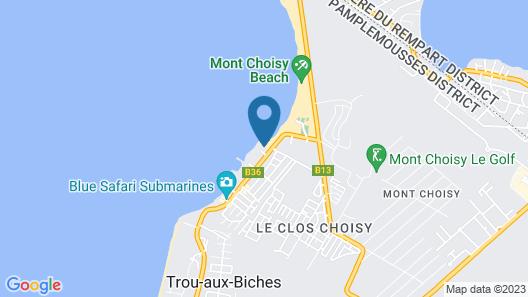 Mon Choisy Beach R. Map