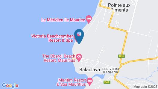 Victoria Beachcomber Resort & Spa Map