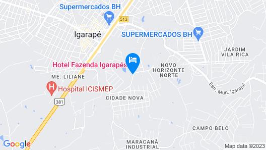 Hotel Fazenda Igarapés Map