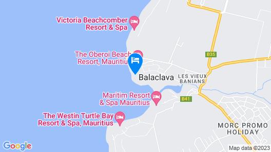 The Oberoi Beach Resort, Mauritius Map