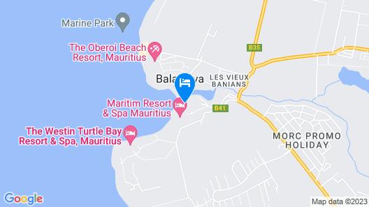 Maritim Resort & Spa Mauritius Map