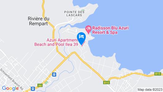 Azuri Apartment Beach and Pool Map