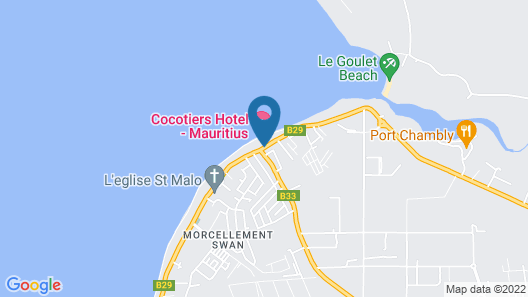 Cocotiers Hotel – Mauritius Map