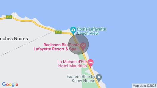 Villa Teolina on a Beautiful Beach in Poste Lafayette Map
