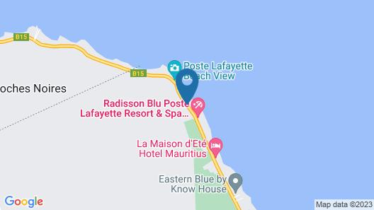 Radisson Blu Poste Lafayette Resort & Spa, Mauritius (Adults Only) Map
