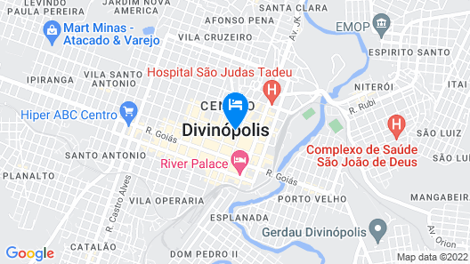 Hotel Divinópolis Map