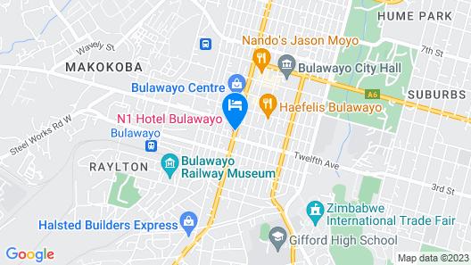 The N1 Hotel Bulawayo Map