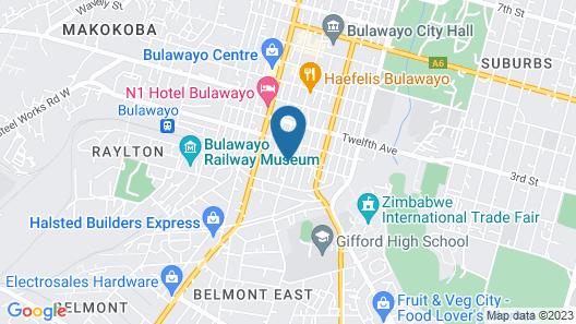 Bulawayo Central Lodge Map