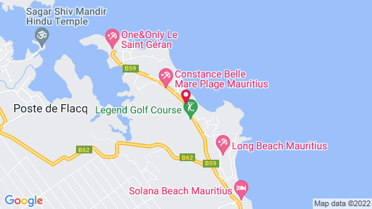 Constance Belle Mare Plage Map