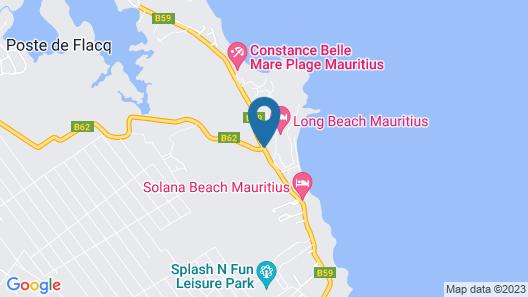 Rose Des Sables Beachfront Apartments Map