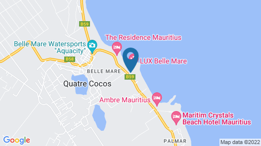 LUX* Belle Mare Resort & Villas Map