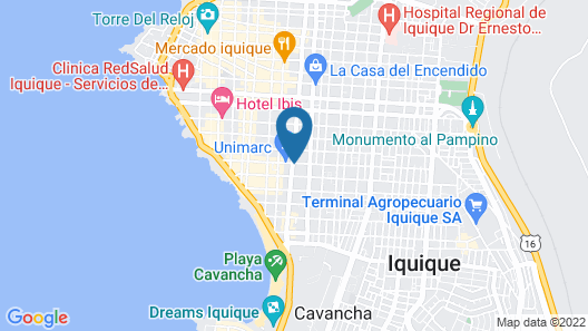 Hotel Iquique Express Map
