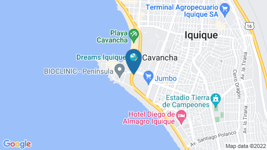 Hilton Garden Inn Iquique Map