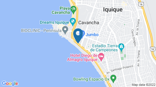 Holiday Inn Express Iquique Map