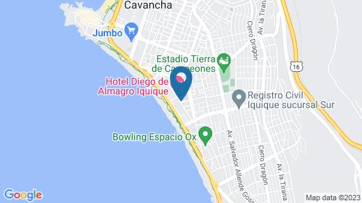 Hotel Diego de Almagro Iquique Map
