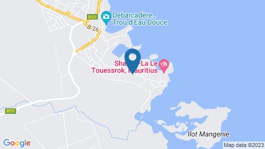 Shangri-La Le Touessrok, Mauritius Map