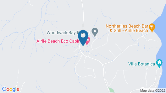 Airlie Beach Eco Cabins Map