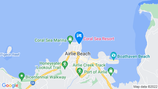 Coral Sea Marina Resort Map