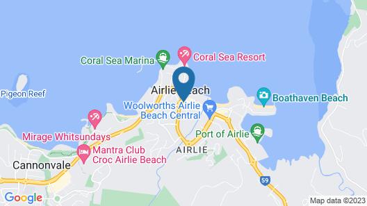 Base Airlie Beach Resort Map