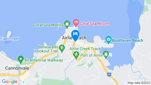 Base Airlie Beach Resort Map