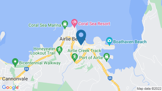 Heart Hotel and Gallery Whitsundays Map