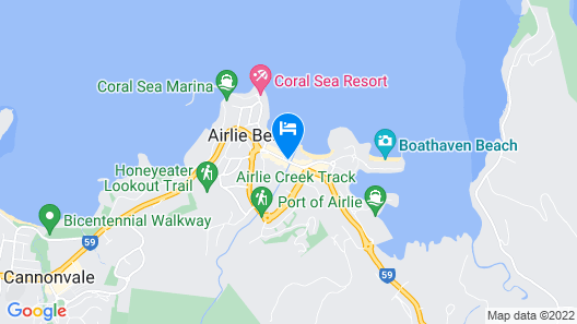 Beaches Backpackers Airlie Beach - Hostel Map