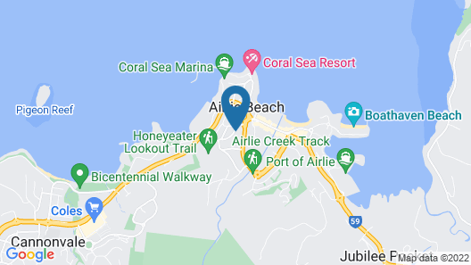 Airlie Beach Motor Lodge Map