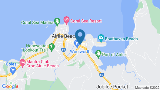 Airlie Waterfront Accomodation - Hostel Map