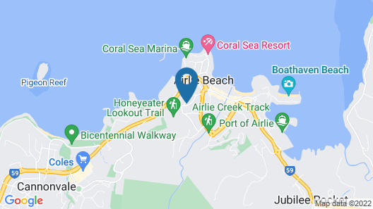 Airlie Guest House Map