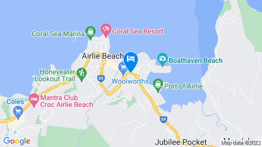 Airlie Beach YHA - Hostel Map