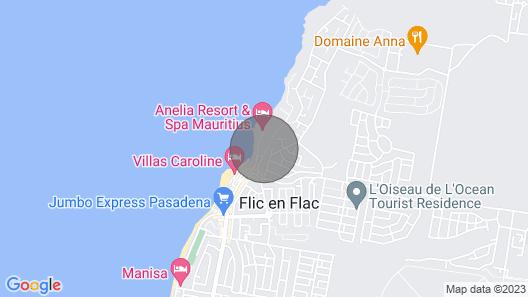 Villa Osumare Set Facing The Beach and Indian Ocean Map
