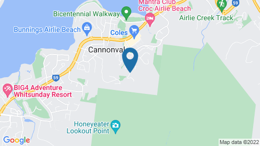 Whitsundays Rainforest Retreat Map