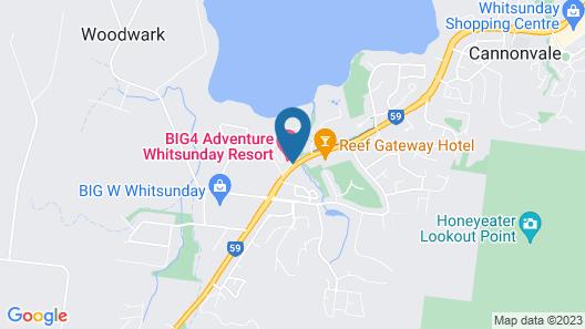 BIG4 Adventure Whitsunday Resort Map