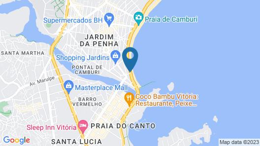 Bourbon Vitória Hotel Map