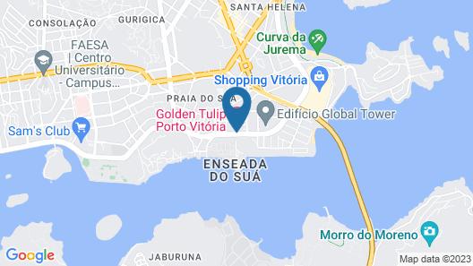 Golden Tulip Porto Vitória  Map