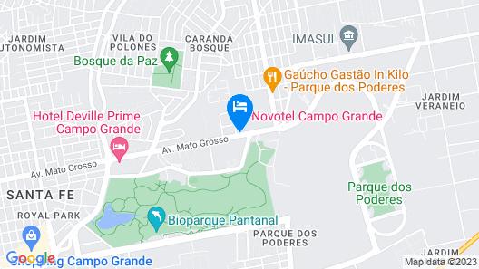 Novotel Campo Grande Map