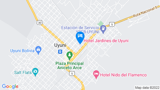 Hotel Jardines de Uyuni Map