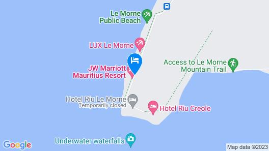 The St. Regis Mauritius Resort Map