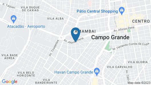Indaiá Park Hotel Map