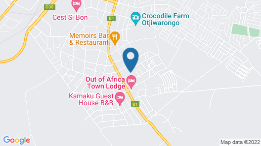 Out of Africa Guest House Map