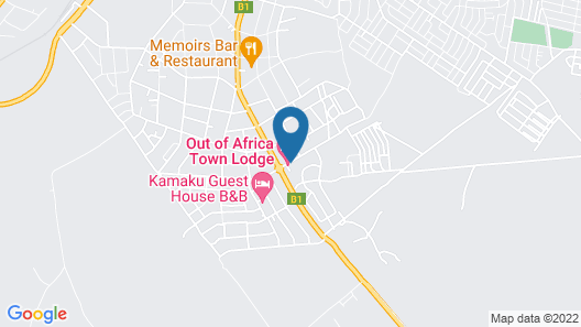 Out of Africa Town Lodge Map