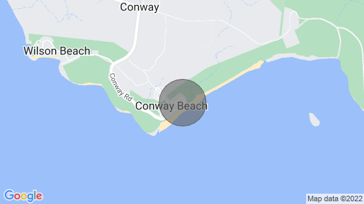 Right on the beach Map