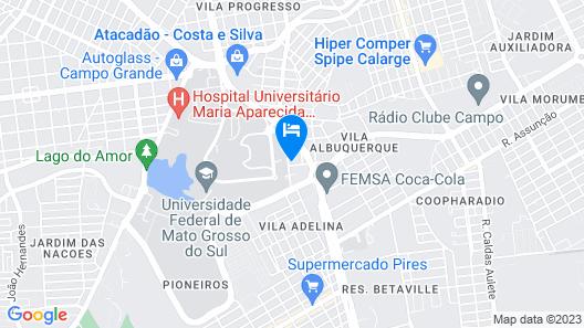 Hostel Inn Campo Grande Map