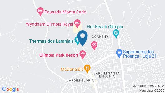 Thermas de Olímpia Resorts by Mercure Map