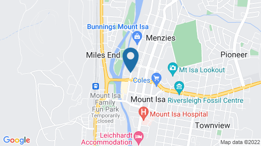 Outback Motel Mt Isa Map