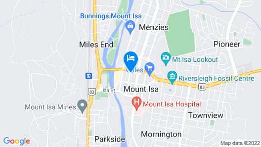 Burke and Wills Mt Isa Motel Map