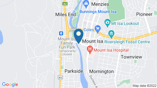 Mt Isa City Motel Map