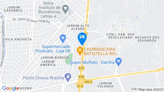 Sakr Hotel - Sao Jose do Rio Preto Map