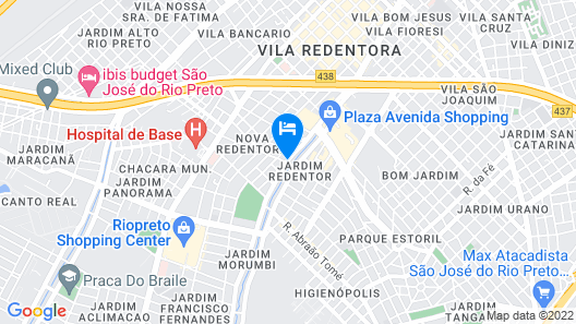 Quality Hotel Saint Paul Rio Preto Map